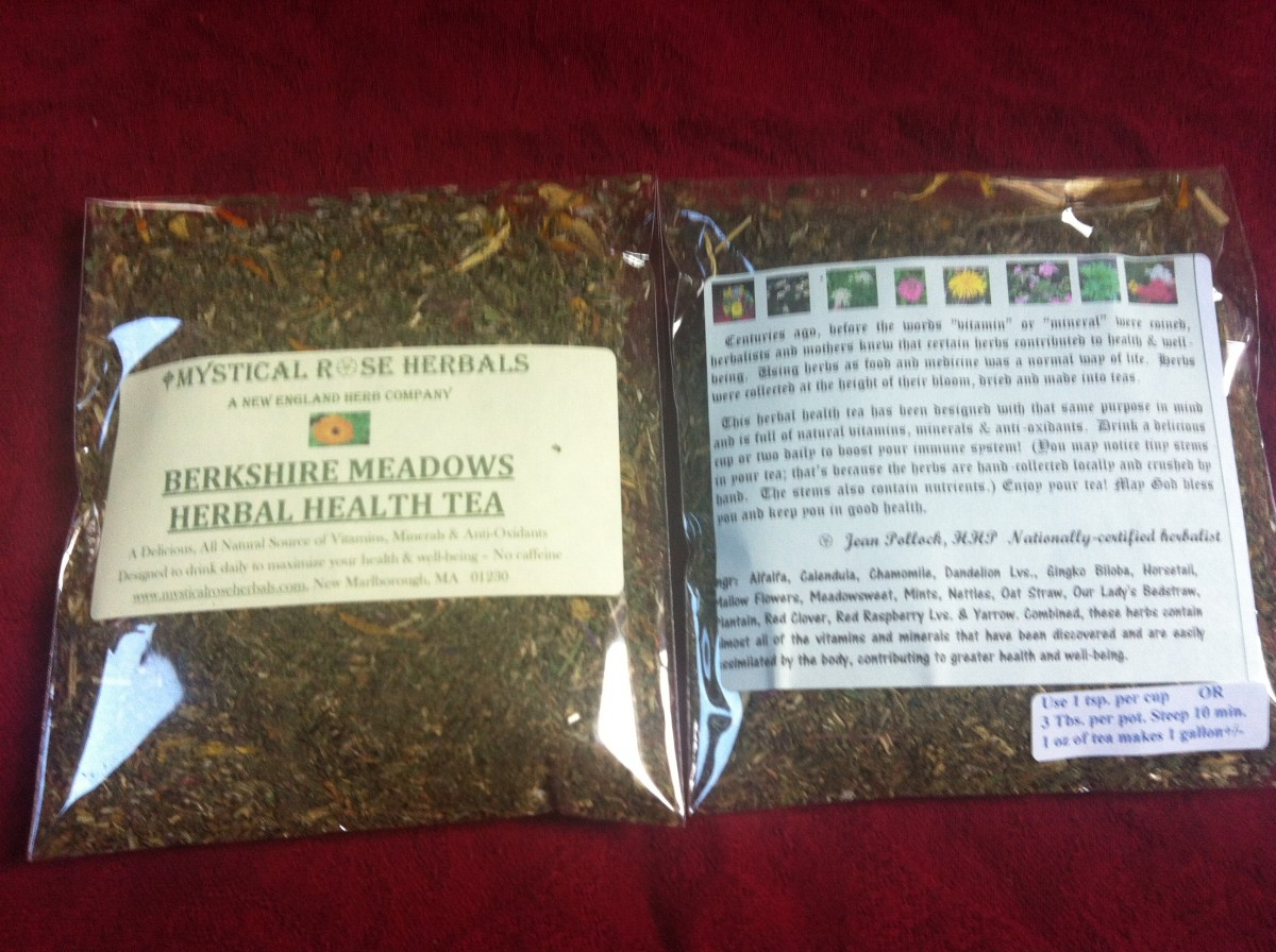 No factory-made vitamins here! Simple herbs, bursting with goodness!